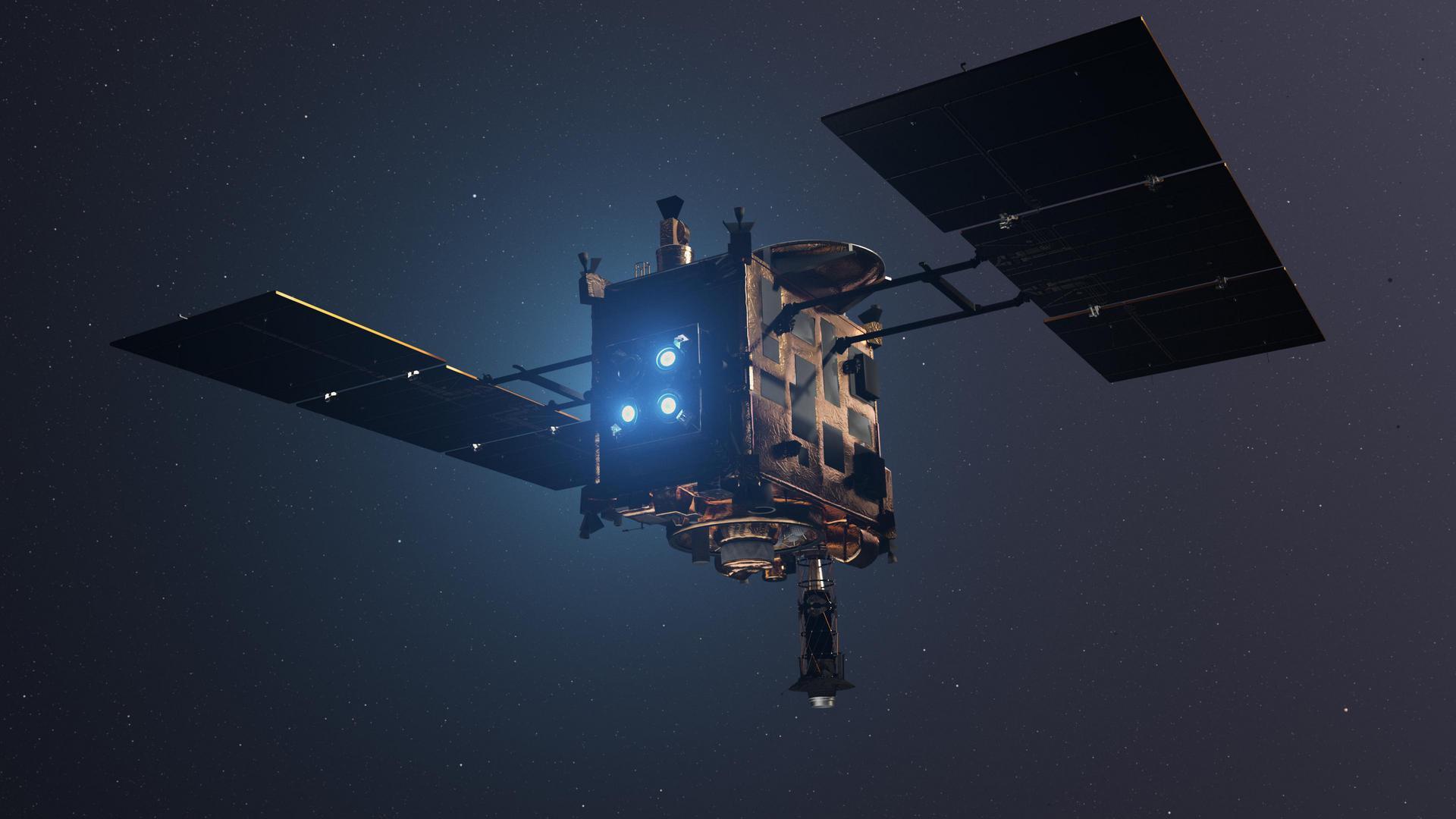 «Хаябуса-2» приступил к отбору пробы вещества астероида Рюгу