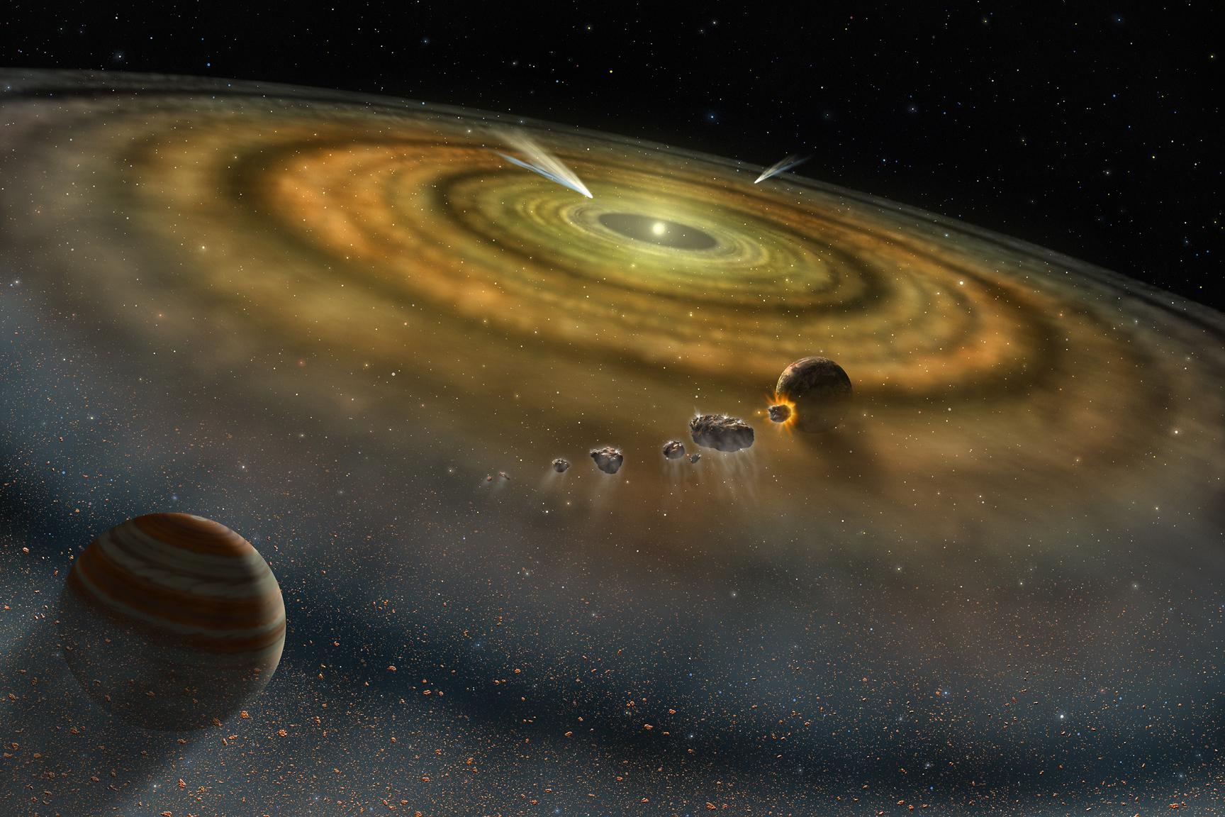 Близкий пролет звезды мог определить облик Солнечной системы
