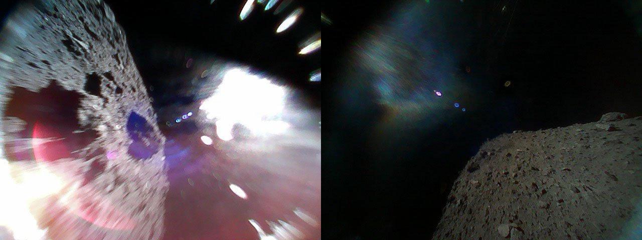 Японские микророверы передали первые фотографии астероида Рюгу