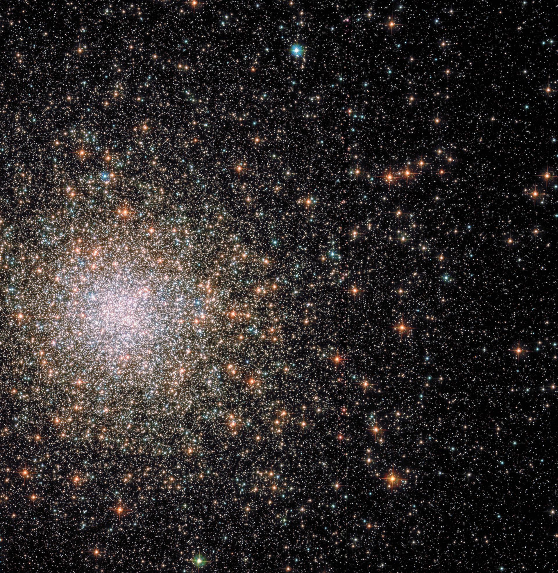 Messier 62: скопление — «комета»