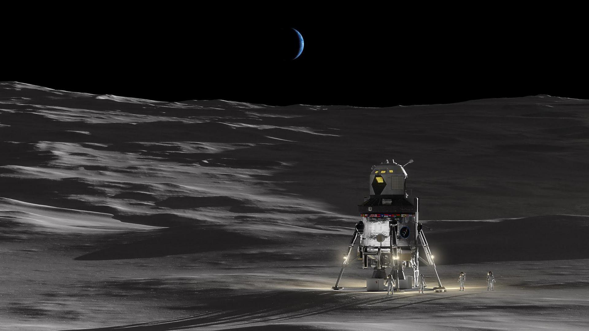spacecraft found on moon - HD1600×899