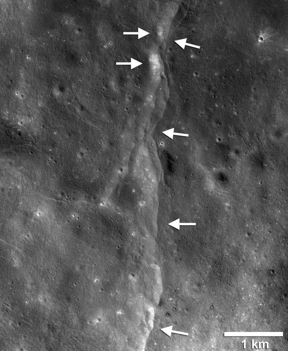 Лунотрясения указали на продолжающуюся эндогенную активность Луны
