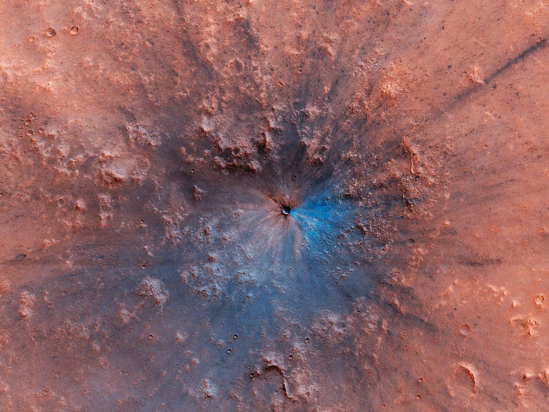 На Марсе найден новый кратер