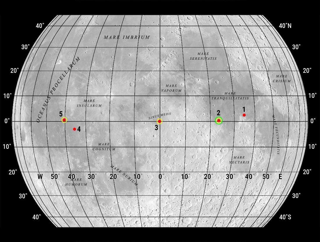 LRO сфотографировал запасное место посадки Apollo 11