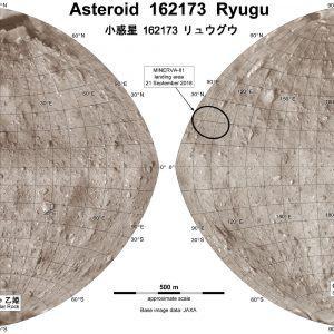 Карта астероида Рюгу. Источник: JAXA