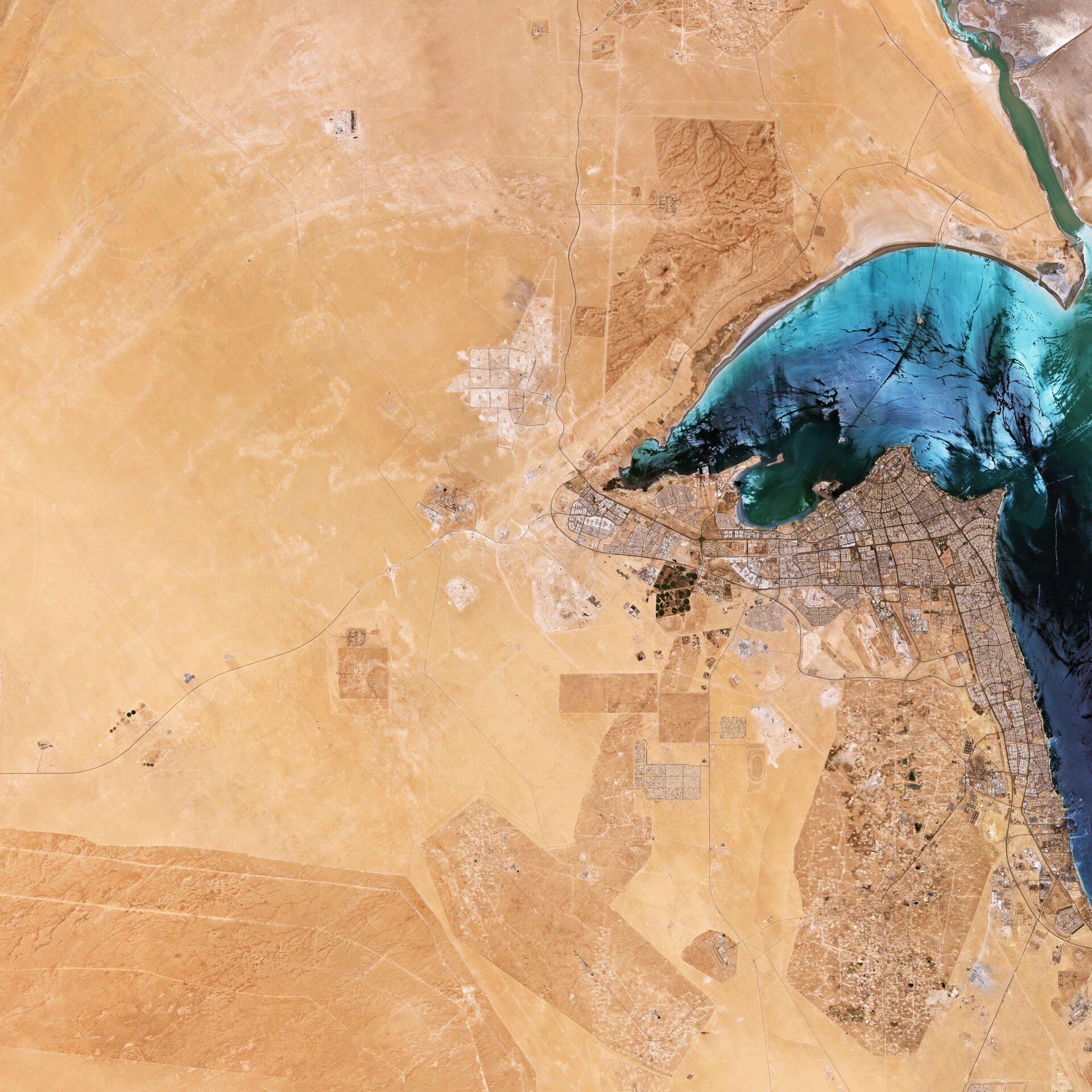 Кувейт глазами спутника Sentinel-2