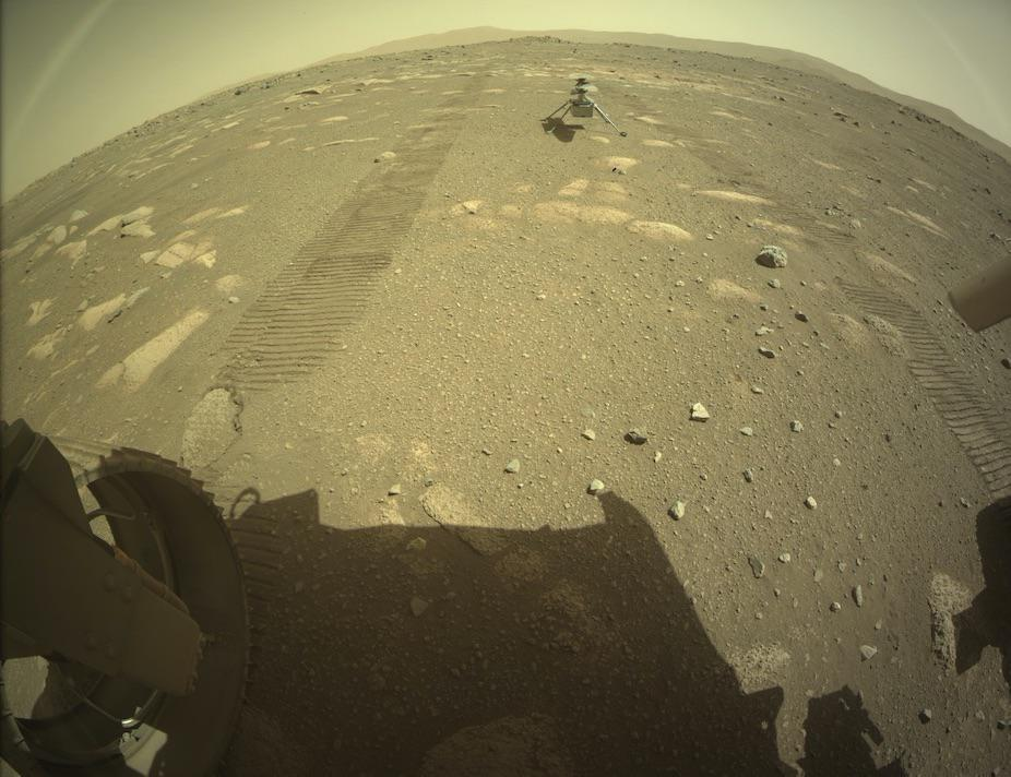 Ingeniuty unloaded on the Red Planet surface