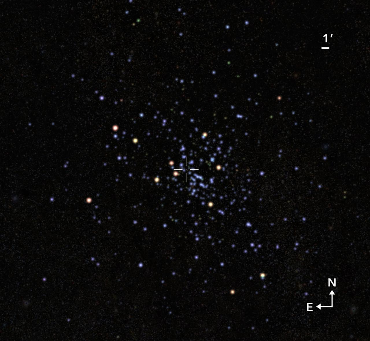 An international team of astrophysicists has announced the discovery of a previously unknown diffuse star cluster in the Milky Way. It was discovered during the analysis of data from the catalog observatory Gaia, as well as the results of ground-based observations.