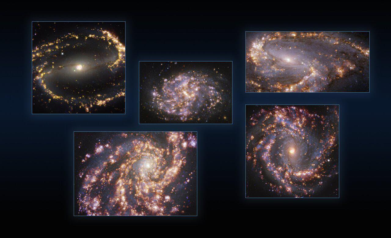 VLT і ALMA дослідили зореутворення у сусідніх галактиках
