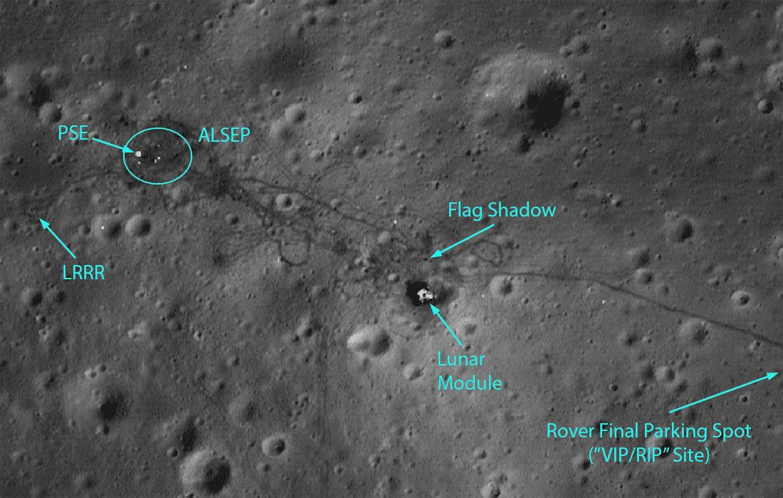 LRO сфотографировал место посадки Apollo 15