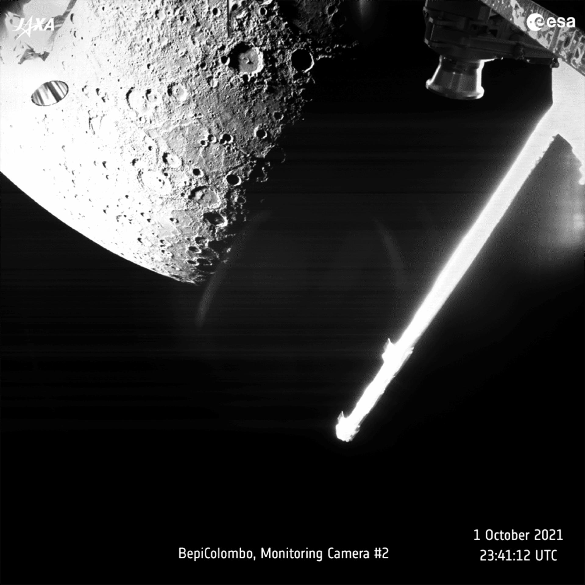 ESA рассказало о некоторых результатах пролета Меркурия аппаратом BepiColombo